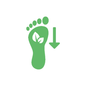 Lower Carbon Footprint Icon